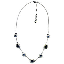 Buy Carolee Faux Sapphire and Diamond Necklace, Blue Online at johnlewis.com