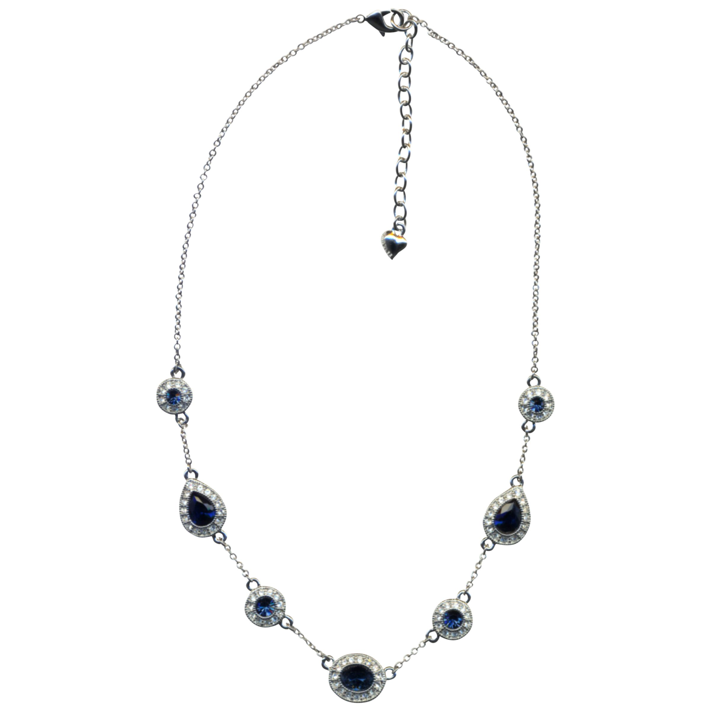 Carolee Faux Sapphire and Diamond Necklace, Blue