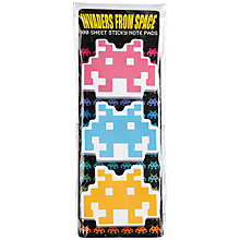 Buy Space Invader Post-Its, Pack of 3 Online at johnlewis.com