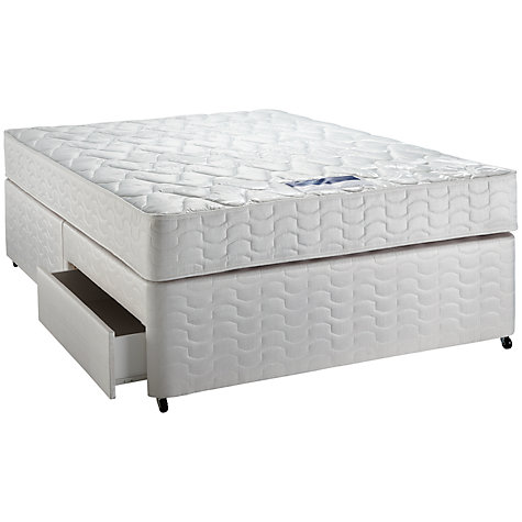 Buy Silentnight Comfort Miracoil Mattress and Divan Set, Double Online at johnlewis.com