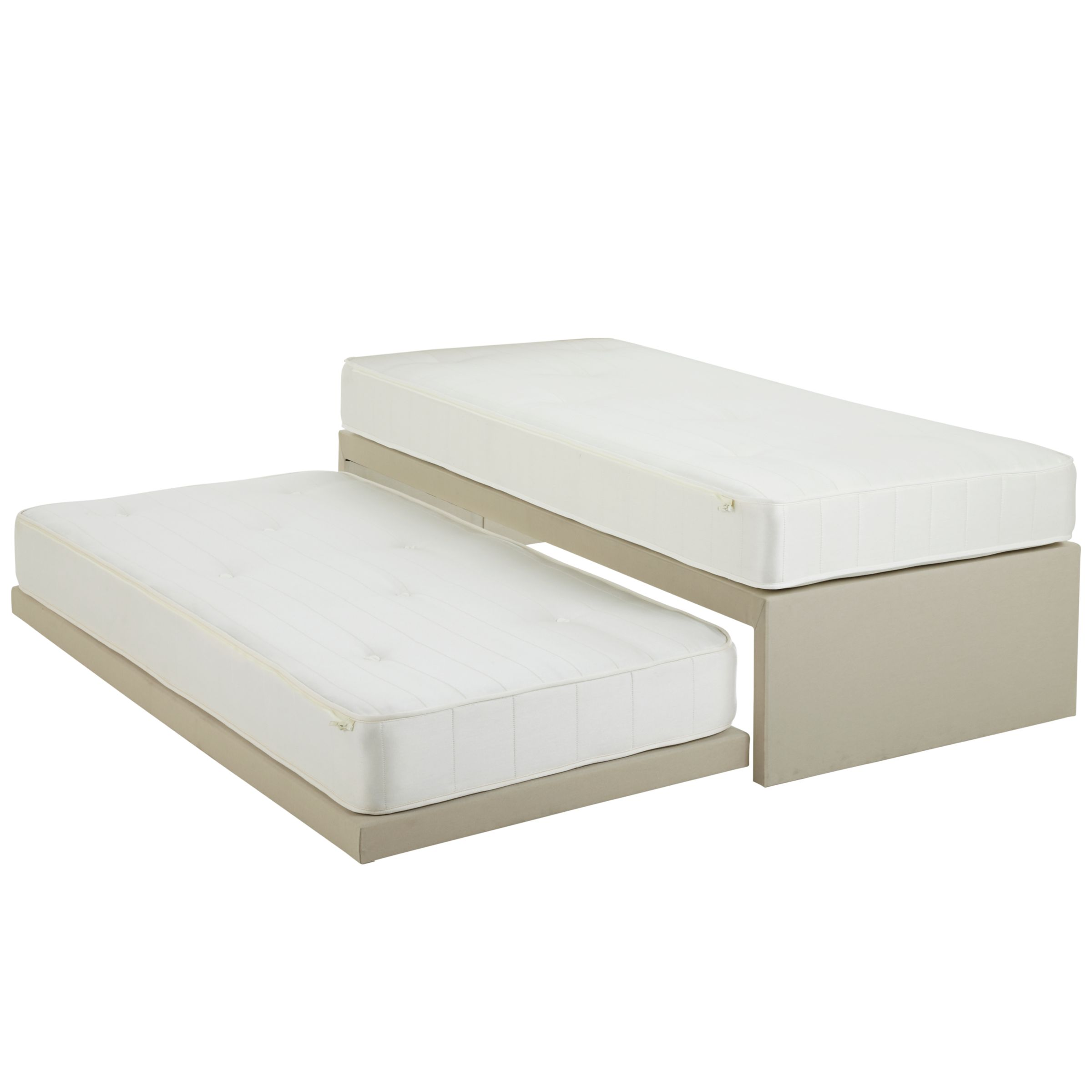 John Lewis Savoy Pocket and Open Spring Guest Bed, White, Small Single
