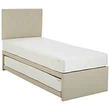 Buy John Lewis Savoy Pocket and Open Spring Guest Bed, White, Single Online at johnlewis.com