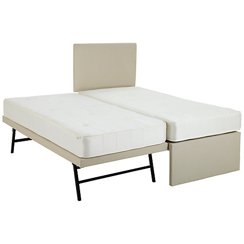 Buy John Lewis Savoy Two Open Spring Guest Bed, Beige, Small Single Online at johnlewis.com