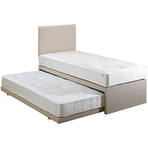 Buy John Lewis Savoy Two Open Spring Guest Bed, Beige, Single Online at johnlewis.com