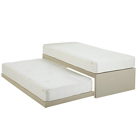 Buy John Lewis Savoy Two Pocket Spring Guest Bed, Beige, Small Single Online at johnlewis.com
