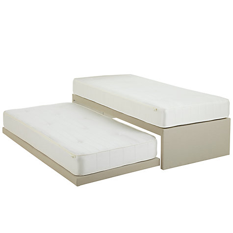 Buy John Lewis Savoy Two Pocket Spring Trundle Guest Bed, Beige, Single Online at johnlewis.com