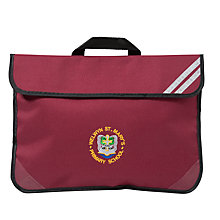 Buy Welwyn St Mary's Primary School Bookbag, Maroon Online at johnlewis.com