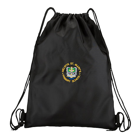 Buy Welwyn St Mary's Primary School Gym Bag, Black Online at johnlewis.com