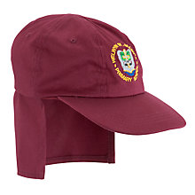 Buy Welwyn St Mary's Primary School Safari Cap, Maroon Online at johnlewis.com