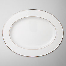 Buy Queensberry Hunt for John Lewis Gold Band Oval Plate, Dia.36cm Online at johnlewis.com