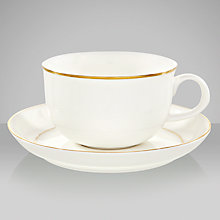 Buy Queensberry Hunt for John Lewis Gold Band Teacup and Saucer Online at johnlewis.com