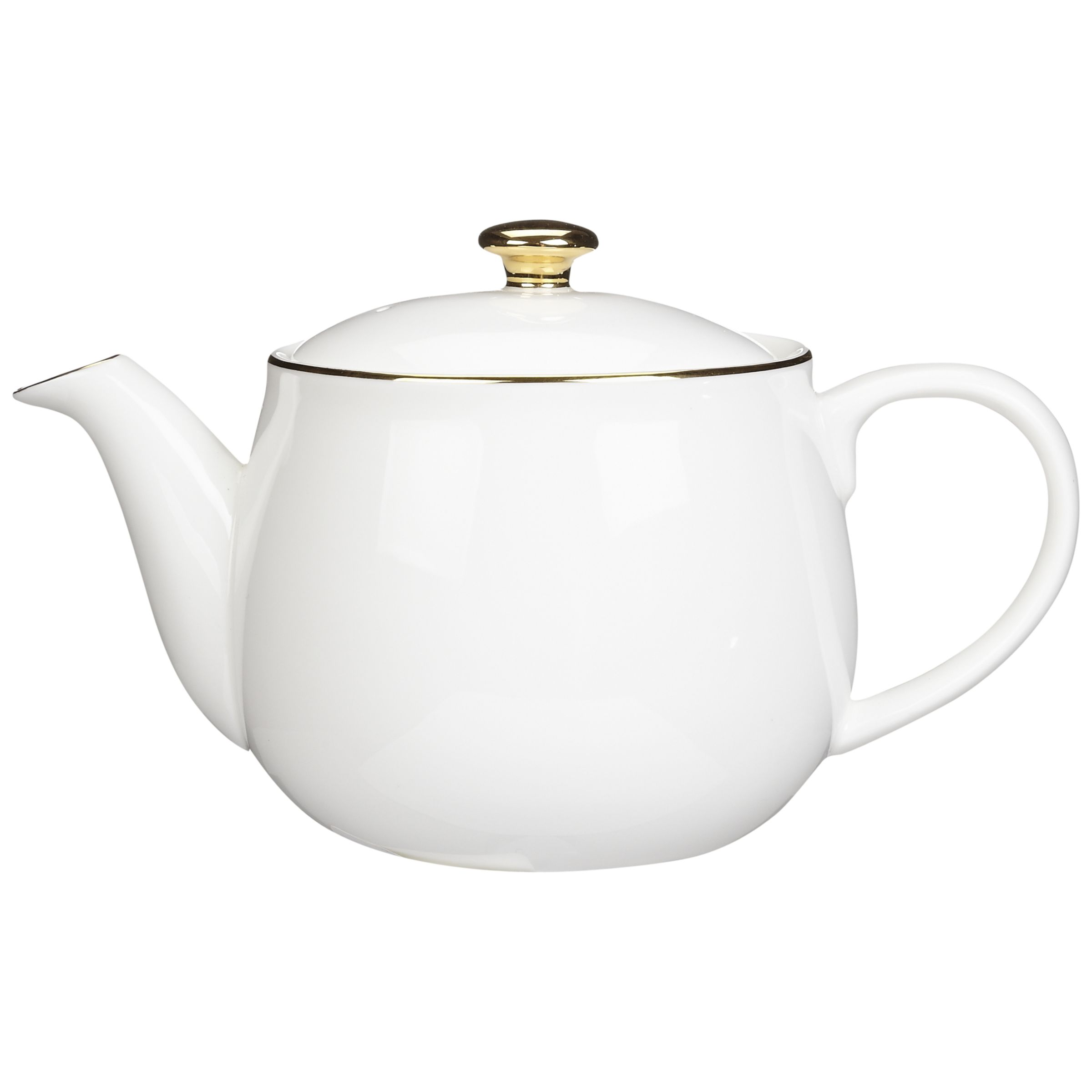 Queensberry Hunt for John Lewis Gold Band Teapot, 1.4L