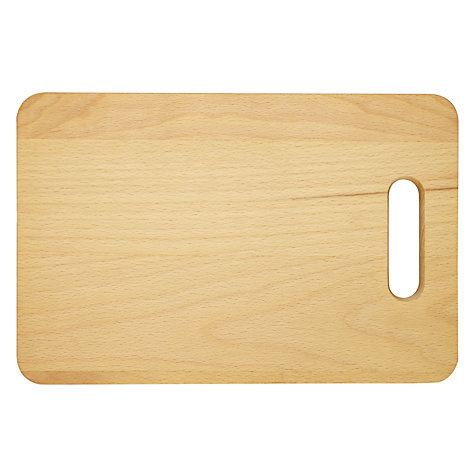 Buy John Lewis FSC Beech Chopping Board with Cutout Handle Online at johnlewis.com