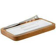 Buy House by John Lewis Oak Cheeseboard and Knife Online at johnlewis.com