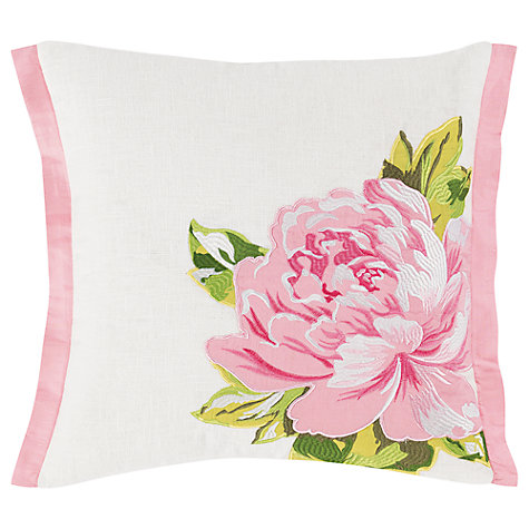 Buy Designers Guild Charlottenburg Peony Cushion, Pink Online at johnlewis.com