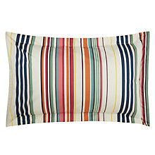 Buy Joules Deckchair Stripe Oxford Pillowcase, Multi Online at johnlewis.com