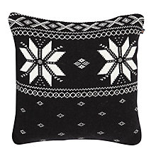 Buy Gant Christmas Knit Cushion, Black Online at johnlewis.com
