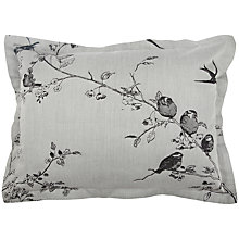 Buy Jigsaw Romantic Bird Cushion, Grey Online at johnlewis.com