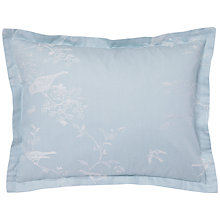 Buy Jigsaw Romantic Bird Jacquard Cushion, Duck Egg Online at johnlewis.com