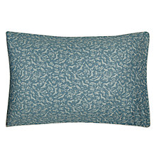 Buy Jigsaw Foxes Standard Pillowcase, Teal Online at johnlewis.com