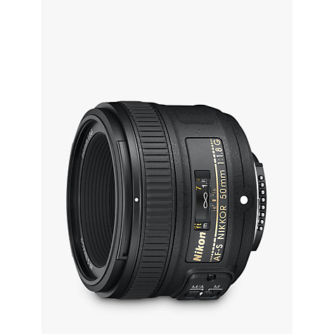 Buy Nikon 50mm f/1.8G AF-S Standard Lens Online at johnlewis.com