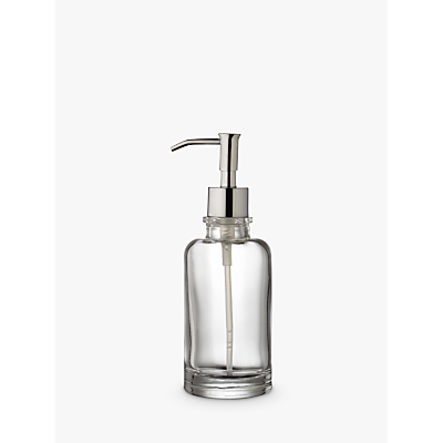 John Lewis Croft Collection Glass Lotion/Soap Dispenser, Clear