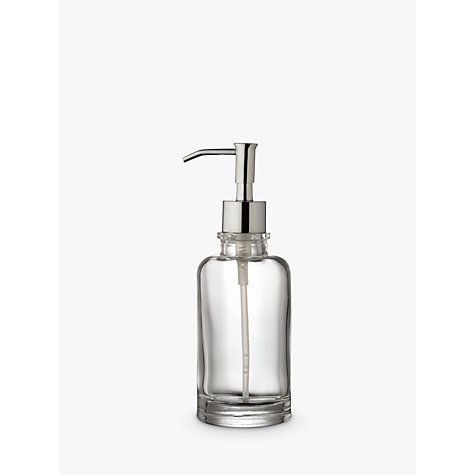 Buy John Lewis Glass Lotion/Soap Dispenser, Clear Online at johnlewis.com