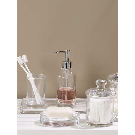 Buy john lewis croft collection glass lotion soap for Clear bathroom accessories