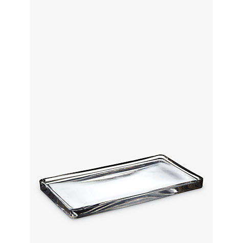 Buy John Lewis Croft Collection Glass Tray, Clear Online at johnlewis.com