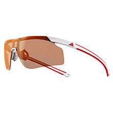Buy Adidas Adizero Tempo Glasses, White/Red Online at johnlewis.com