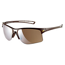 Buy Adidas Raylor Glasses, Shiny Brown, Large Online at johnlewis.com