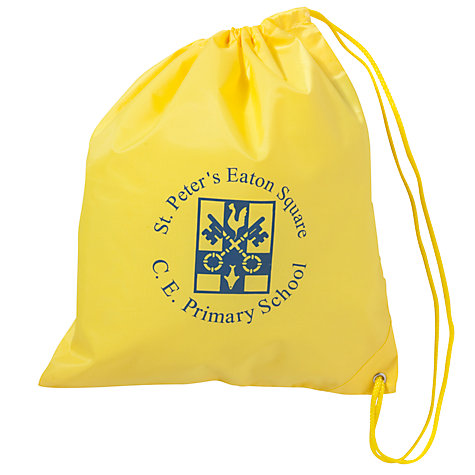 Buy St Peter's Eaton Square C of E Primary School Swimbag, Yellow Online at johnlewis.com