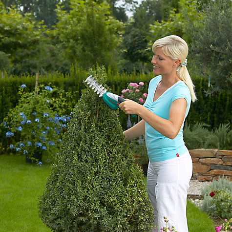 Buy Bosch Isio Shrub and Edge Shear with Laura Ashley Gloves Online at johnlewis.com