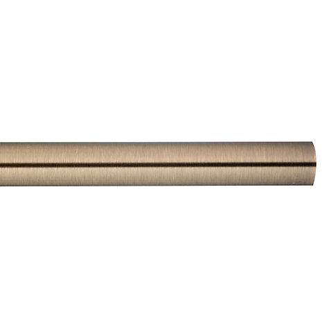 Buy John Lewis Antique Brass Curtain Pole, L120cm x Dia.19mm Online at johnlewis.com