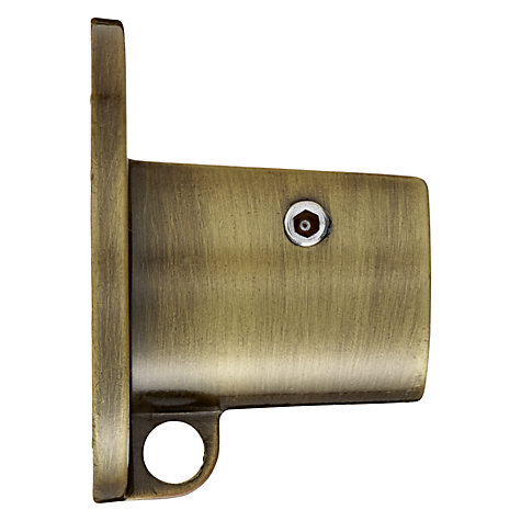 Buy John Lewis Antique Brass Recess Bracket, Dia.19mm Online at johnlewis.com