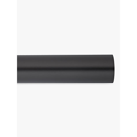 Buy John Lewis Black Curtain Pole, L180cm x Dia.28mm Online at johnlewis.com
