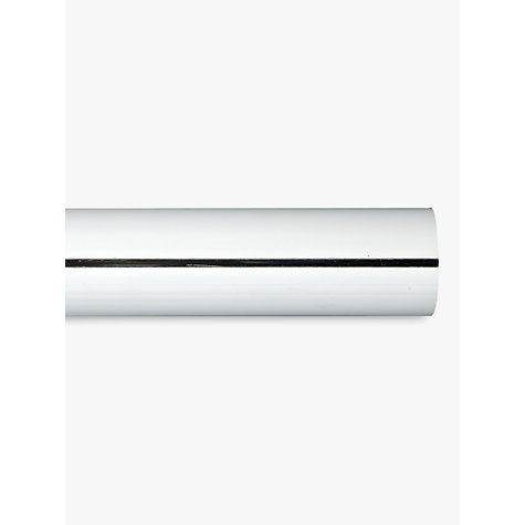 Buy John Lewis Chrome Curtain Pole, L180cm x Dia.28mm Online at johnlewis.com