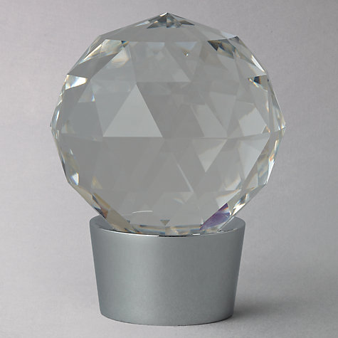 Buy John Lewis Chrome Glass Finial, Dia.28mm Online at johnlewis.com