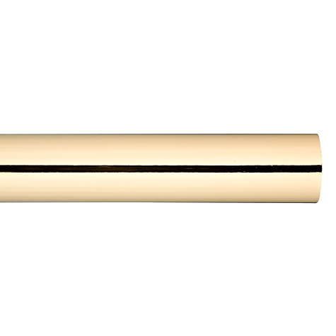 Buy John Lewis Polished Brass Curtain Pole, L150cm x Dia.28mm Online at johnlewis.com