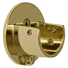 Buy John Lewis Polished Brass Recess Bracket, Dia.28mm Online at johnlewis.com