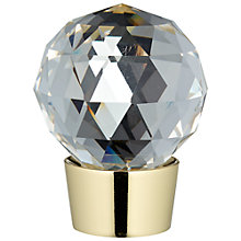 Buy John Lewis Polished Brass Glass Finial, Dia.28mm Online at johnlewis.com