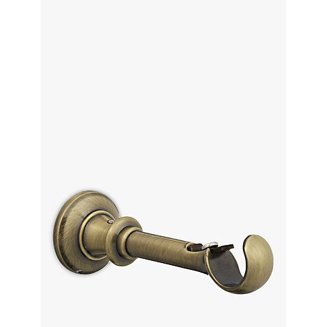 Buy John Lewis Antique Brass Traditional Side / Centre Bracket, Dia.28mm Online at johnlewis.com