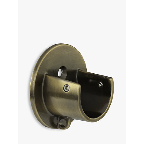 Buy John Lewis Antique Brass Recess Bracket, Dia.28mm Online at johnlewis.com