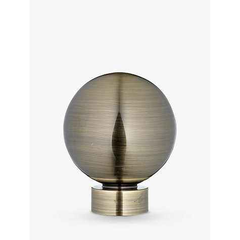 Buy John Lewis Antique Brass Ball Finial, Dia.28mm Online at johnlewis.com