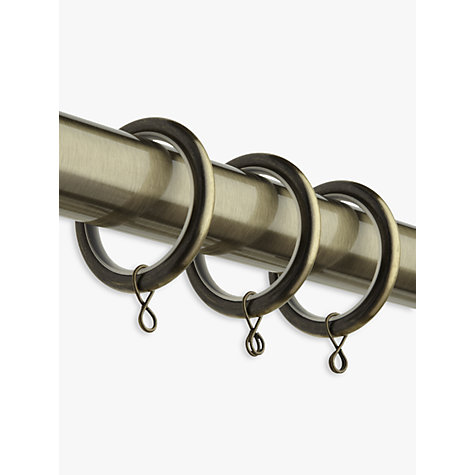 Buy John Lewis Extendible Curtain Rings, White, Pack of 6, Dia.25/28mm Online at johnlewis.com