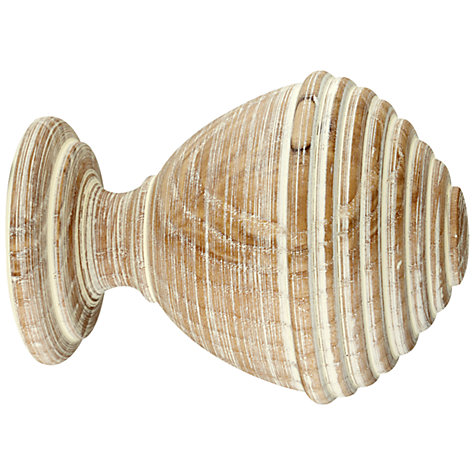Buy John Lewis Limed Ash Rib Ball Finial, Dia.45mm Online at johnlewis.com