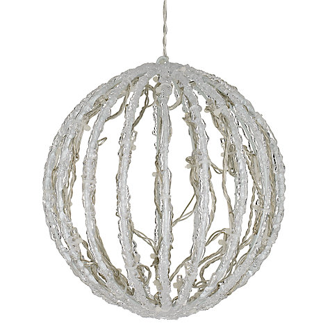 Buy Acrylic Snow Ball Outdoor LED Light, Small Online at johnlewis.com