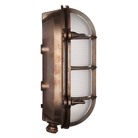 Buy Davey Bulkhead Weathered Ceiling Light, Brass Online at johnlewis.com