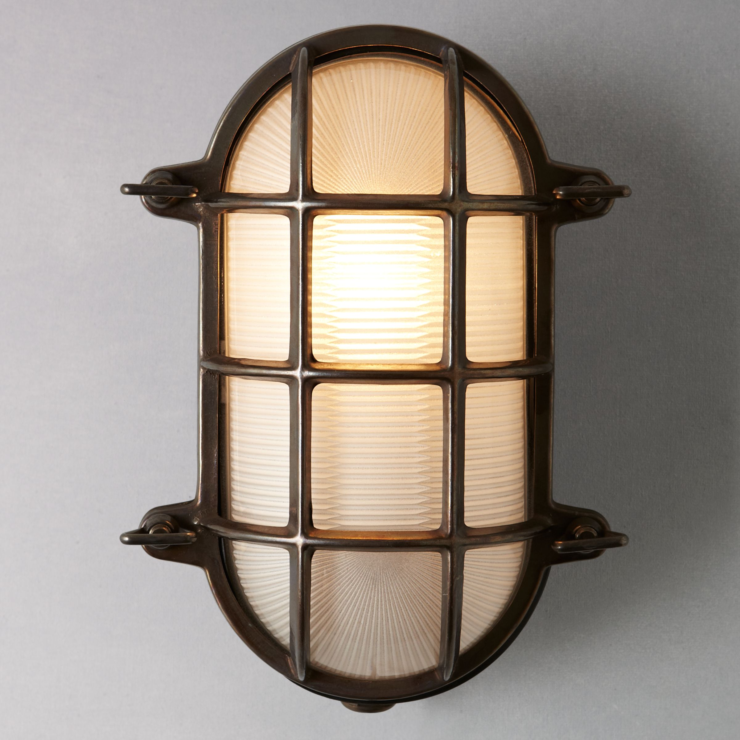 Brass Bulkhead Wall Lights : Buy Davey Lighting Bulkhead Weathered Wall Light, Brass John Lewis