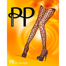 Buy Pretty Polly Pretty Squiggly Tights, Black Online at johnlewis.com